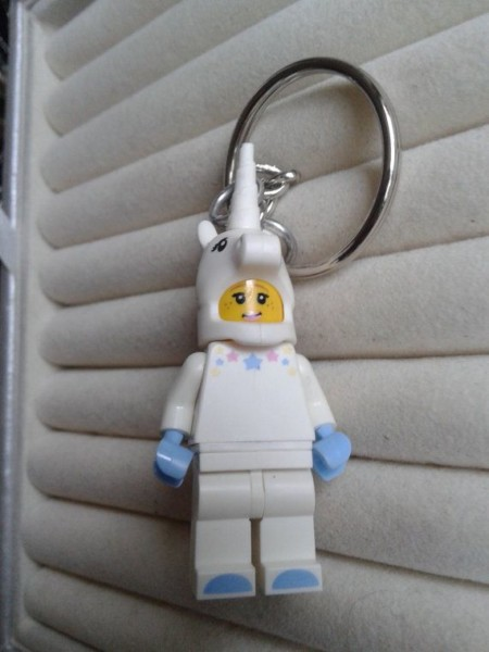 Unicorn Girl Keychain Keyring Made With Lego® By Simplyproducts