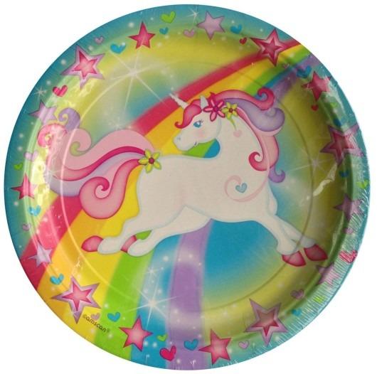 Unicorn Magic Lunch Plates (8 Ct)