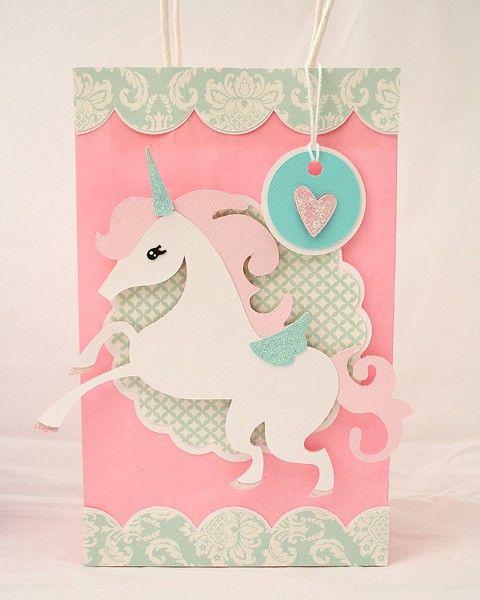 Unicorn Party Goody Bag  My Mind's Eye Lush Papers Cricut