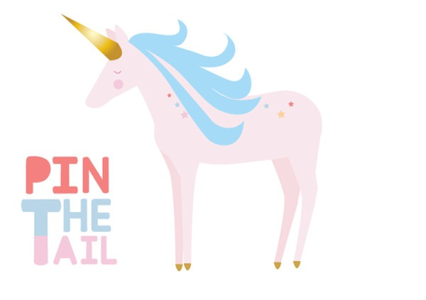 Unicorn Party Printable  Pin The Tail Game