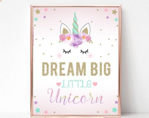 Unicorn Party Sign, Believe In Unicorns, Birthday Sign, Unicorn