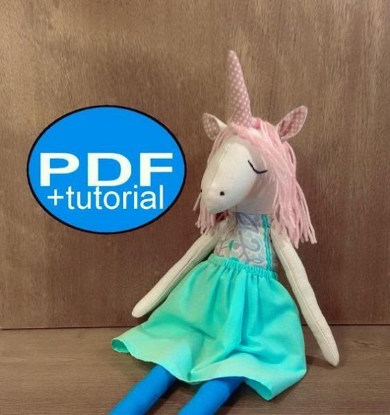 Unicorn Pattern Diy Unicorn Sewing Pattern Tutorial Pdf Doll