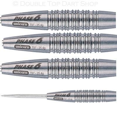 Unicorn Purist Phase 6 Natural 97  Tungsten Steel Tip Darts