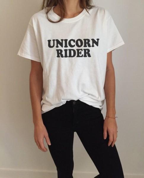 Unicorn Rider Tshirt Fashion Funny Saying Womens By Nallashop