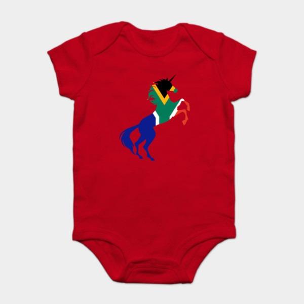 Unicorn South Africa Flag Magical Unicorn African Design