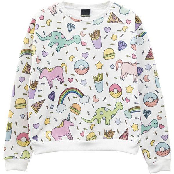 Unicorn Sweater Jumper Top T Shirt Womens Ladies Girls Top Tumblr