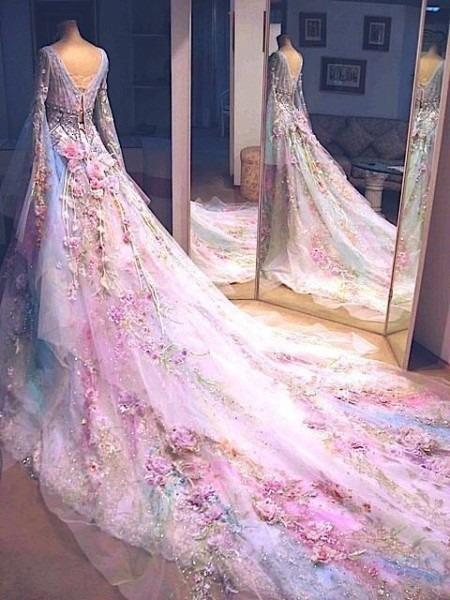 Unicorn Wedding Dress In Consort With Aesthetic Wedding