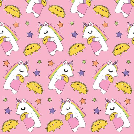 Unicorns & Tacos Fabric