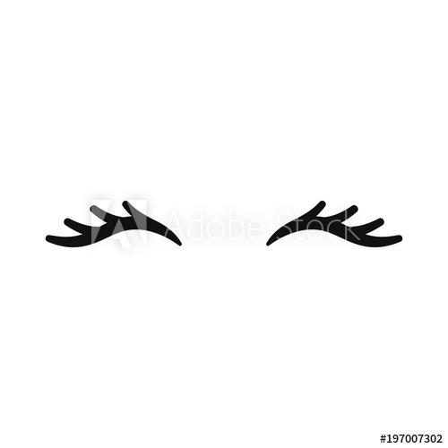 Vector Unicorn Eyelashes  Closed Eyes  Vector Icon