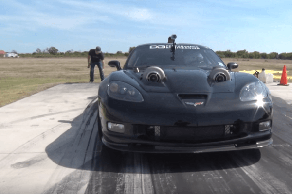 Video  This 2,400 Horsepower Corvette Is Hard To Contain