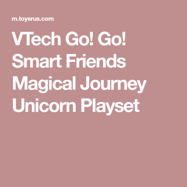 Vtech Go! Go! Smart Friends Magical Journey Unicorn Playset