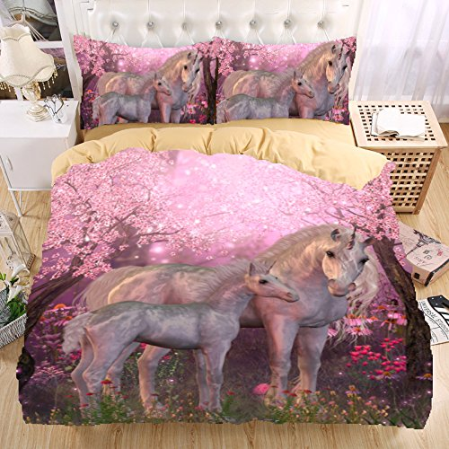 Warm Tour 3d Bedding Set Unicorn Bedding Print Twin Queen King