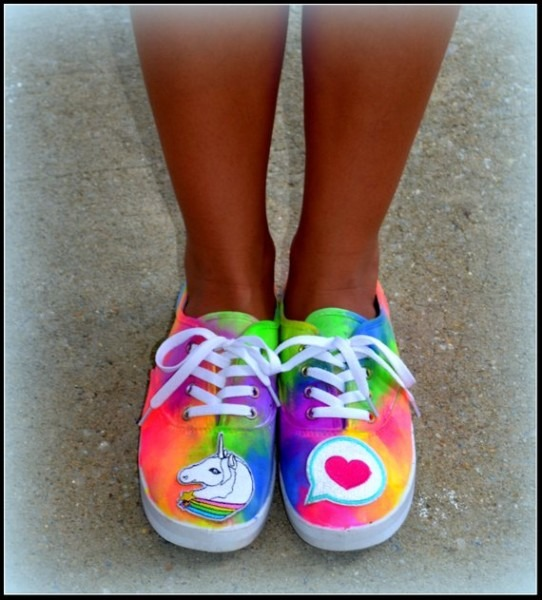 Womens Shoes Unicorn Sneakers Emoji Shoes Rainbow Emoji