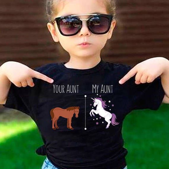 Your Aunt My Aunt Horse Unicorn Funny T