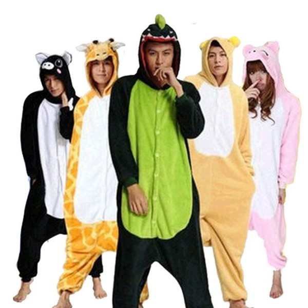 2015 Fans Unicorn Unisex Flannel Hooded Pajamas Mens And Womens