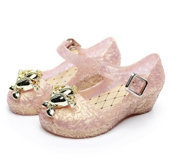 2019 New Style Kids Girls Shoes Jelly Sandals With Low Heeled For