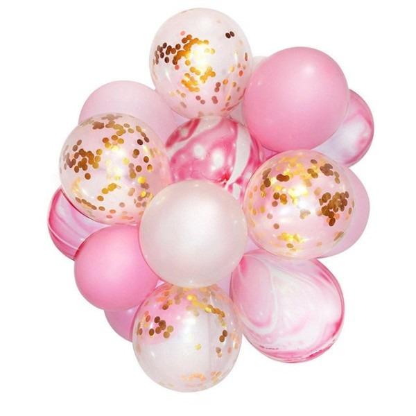 21pcs Unicorn Birthday Balloons Ramadan Gold Confetti Balloon