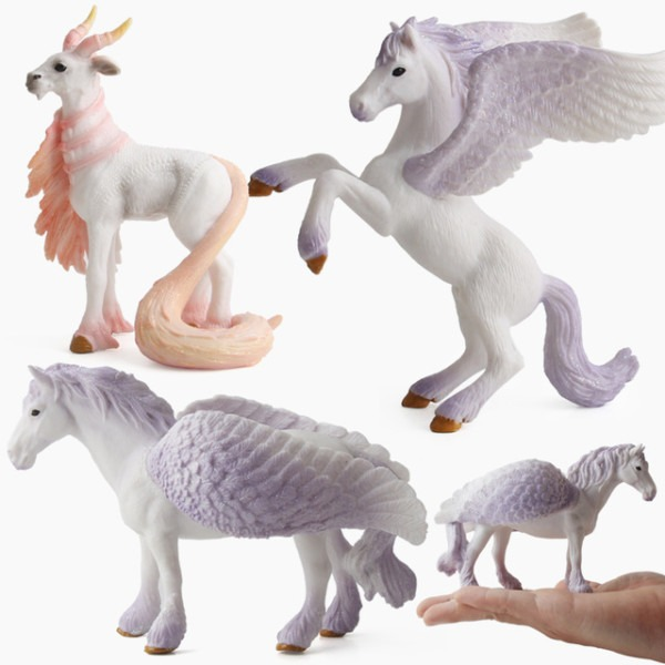 4 Colors Action&toy Figures Unicorn Legend Pegasus Elf Goat Toys