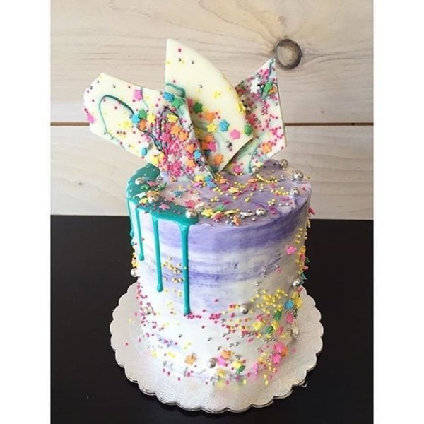 A Fun Watercolor Cake Using Our Unicorn Sprinkle Mix