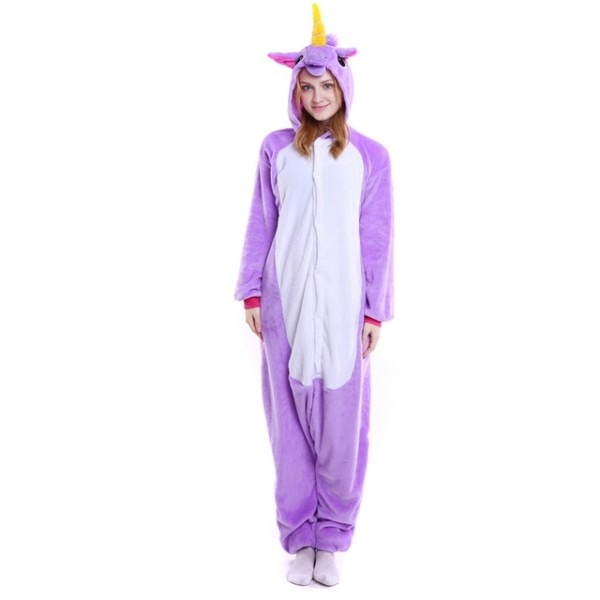 Adult Unicorn Pajamas For Women Flannel Onesies For Adults Animal