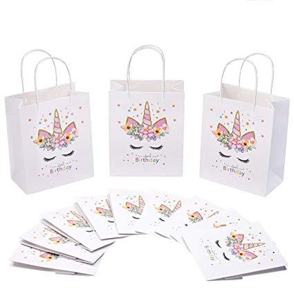 Amazon Com  12pcs Unicorn Gift Bags Unicorn Birthday Party