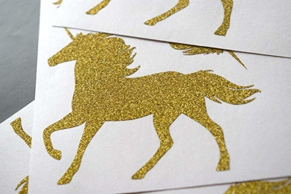 Amazon Com  15 Glitter Unicorn Stickers   Kids Birthday Party