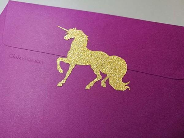 Amazon Com  20 Glitter Unicorn Stickers, Peel And Stick Party