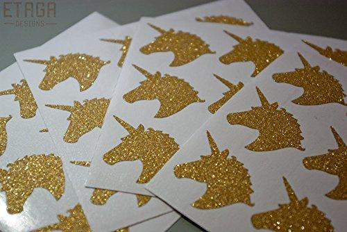 Amazon Com  25 Glitter Unicorn Head Stickers Peel And Stick Party