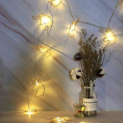 Amazon Com   20 Led Unicorn Head Metal String Light, Fairy Lamp