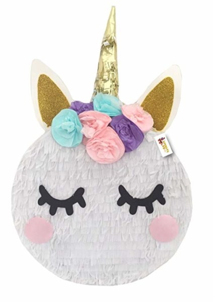 Amazon Com  Apinata4u Small Unicorn Pinata With Flowers Pink Teal