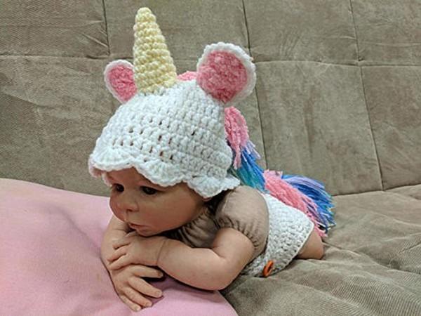 Amazon Com  Crochet Newborn Unicorn Outfit, Newborn Photo Props