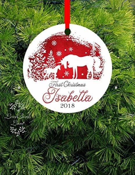 Amazon Com  Ditooms Baby's First Christmas Ornament Unicorn
