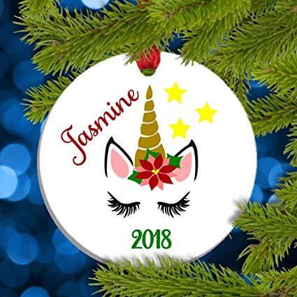 Amazon Com  Dozili Unicorn Christmas Ornament Unicorn Ornament