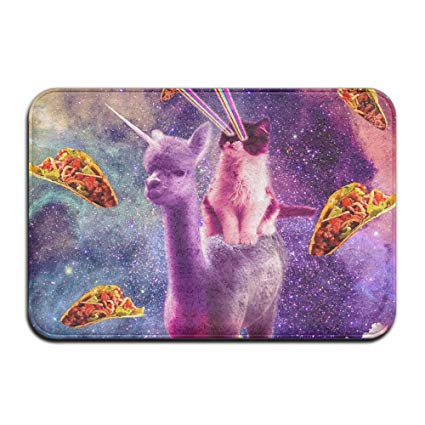 Amazon Com  Fashion 3d Print Door Mat Cosmic Cat Riding Alpaca