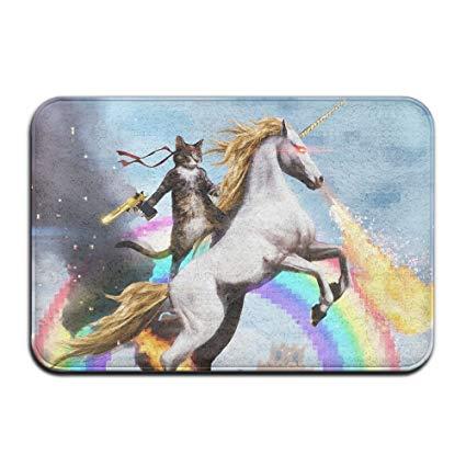 Amazon Com  Home Door Mat Cat Ride Unicorn Doormat Door Mats