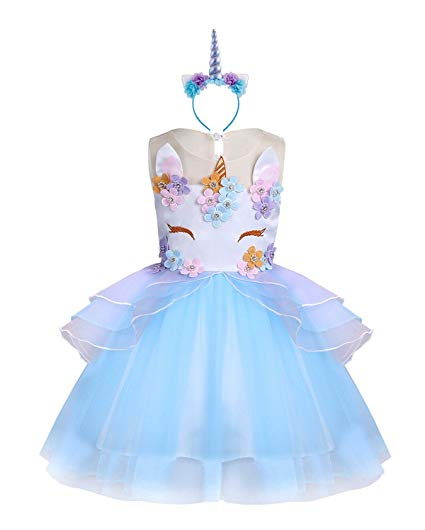 Amazon Com  Kabety Baby Girl Unicorn Costume Pageant Flower
