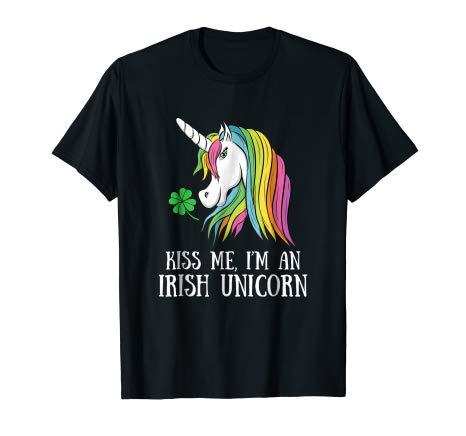 Amazon Com  Kiss Me I'm An Irish Unicorn Funny St Patrick's Day T