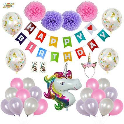 Amazon Com  Partyplanet Unicorn Party Decorations, Birthday Party