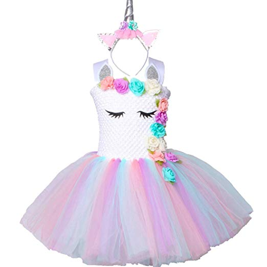 Amazon Com  Pastel Unicorn Tutu Dress For Girls Kids Birthday