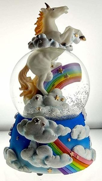 Amazon Com  Sculptured Mystic Unicorn Snow Globe