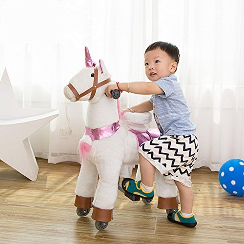 Amazon Com  Toddler Toys Unicorn Pony Rocking Trotting Horse Ride