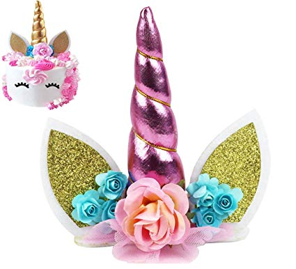 Amazon Com  Unicorn Cake Topper, Kootips Unicorn Happy Birthday