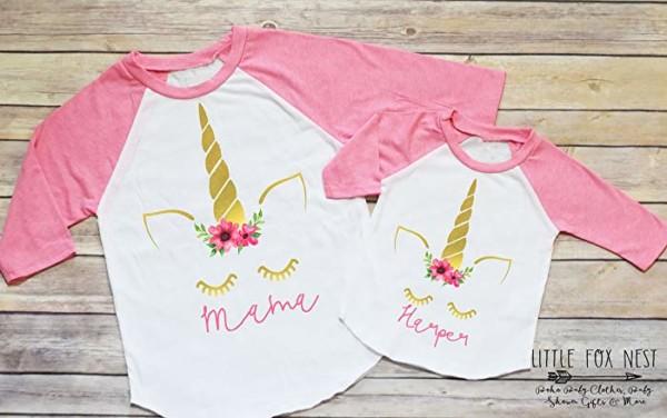 Amazon Com  Unicorn Shirt, Unicorn Birthday, Mommy And Me Shirts