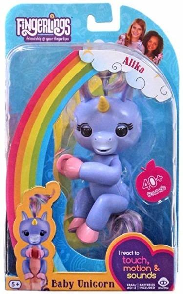 Amazon Com  Wowwee Fingerlings Baby Unicorn Purple Alika  Toys & Games