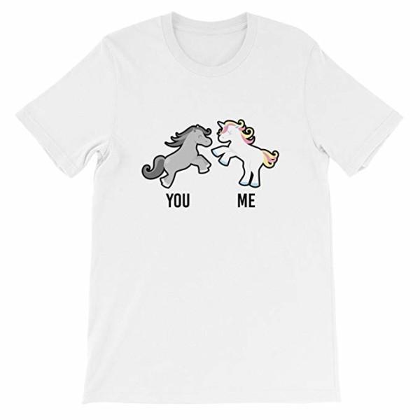 Amazon Com  You Me Horse Unicorn T