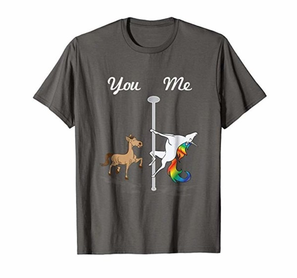 Amazon Com  You Me Unicorn Shirt Pole Dancing Unicorn T