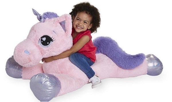 Animal Alley 45 Inch Jumbo Stuffed Unicorn Only $24 99 (reg  $50