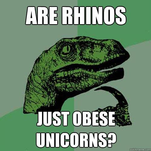 Are Rhinos Just Obese Unicorns