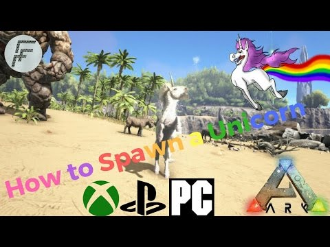 Ark Survival Evolved  How To Spawn A Unicorn