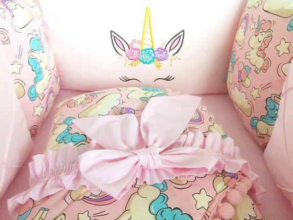 Baby Girl Crib Bedding Set Unicorn Bedding Baby Bedding Set